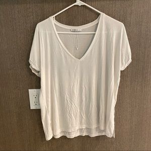 Zara plain white tee v neck